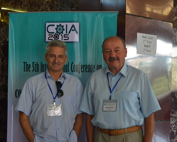 During the coffee break: Prof. S. Boyd (Stanford University, USA) and Prof. S. Pogorilyi